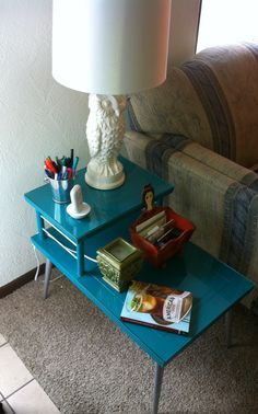 Remade: Great Grandmother's Mid-century Lane End Table #paint