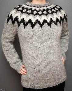 Var on Ravelry by Védís Jónsdóttir for Ístex Icelandic Sweaters, Cozy Sweaters, Sweaters For Women, Kurti Neck, Wrap Sweater, Yarn Crafts, Knitting Projects, Baby Knitting, Lana