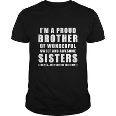 Funny Gift For Sister From Brother Birthday Present - Funny Sister Shirts - Ideas of Funny Sister Shirts - Funny Gift For Sister From Brother Birthday Present T Shirt gift for brother Birthday Present For Brother, Christmas Gifts For Brother, Brother Birthday Quotes, Sister Gifts, Christmas Presents, Funny Birthday Gifts, Funny Gifts, Happy Birthday, Brother Humor