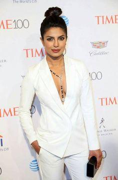 Priyanka Chopra in white dress at TIME 100 Gala Event, Priyanka Chopra in white dress. Priyanka Chopra in White Dress, Time 100 Gala events still images.