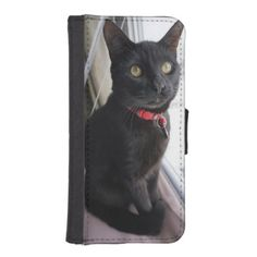 #beauty - #Iphone 5/5s Wallet Case with Black Cat