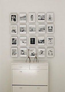 Black and white pictures on the wall