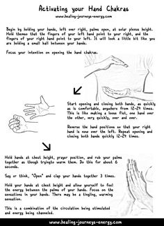Activating your Hand Chakras for healing...