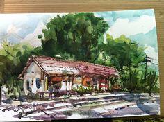 Plein Air Trains | Watercolor Plein Air @ Bukit Timah Train Station | Flickr - Photo ...