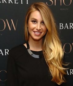 Whitney Port's long, layered hair.