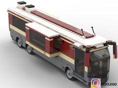 LEGO Bus coach RV version - building instructions and parts list. Lego Bus, Lego Camper, Lego Minecraft, Lego Wheels, Mbti, Lego Storage, Bus Coach, Lego Architecture, Lego Design