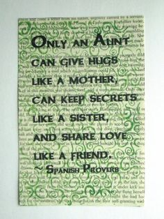 Aunt quote Spanish Proverb print on a book page by falpal