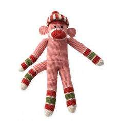 Striped Funky Monkey free crochet pattern. click on the green free pattern box to get to the pattern. Yarnspirations