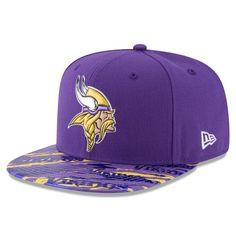 669124547ed08 Men s New Era Purple Minnesota Vikings Color Rush On Field Original Fit  9FIFTY Snapback Adjustable Hat