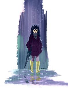 girl in the rain ✤ || CHARACTER DESIGN REFERENCES | Find more at https://www.facebook.com/CharacterDesignReferences if you're looking for: #line #art #character #design #model #sheet #illustration #expressions #best #concept #animation #drawing #archive #library #reference #anatomy #traditional #draw #development #artist #pose #settei #gestures #how #to #tutorial #conceptart #modelsheet #cartoon #female #lady #woman #girl || ✤