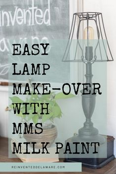 Refurbished Lamps, Cheap Lamps, Furniture Wax, Upcycled Furniture, Candlestick Lamps, Lamp Makeover, Painting Lamps, Brass Lamp, Milk Paint