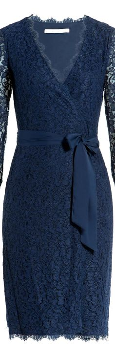 Diane von Furstenberg ● Lace Wrap Dress  This is what I would wear as Mother of the Groom if that ever happens!