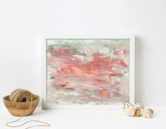 coral and mint green abstract print, acrylic painting, original artwork, acrylic artwork, colourful print, gallery wall, minimalist artwork Minimalist Artwork, Acrylic Artwork, Abstract Print, Mint Green, Giclee Print, Original Artwork, Contemporary Art, Gallery Wall, Coral