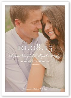 Dreamy Moment 5x7 Announcement Card | Save the Date