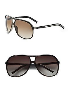 Dior Homme Acetate Aviator Shield Sunglasses - by Christian Dior