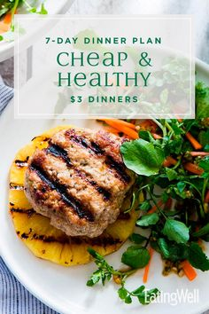 Making budget-friendly meals that are healthy and delicious is easy with this cheap and healthy meal plan. Cheap Easy Healthy Meals, Healthy Recipes On A Budget, Heart Healthy Recipes, Healthy Meals For Kids, Healthy Meal Prep, Easy Meals, Stay Healthy, Heart Healthy Diet, Fruit Recipes