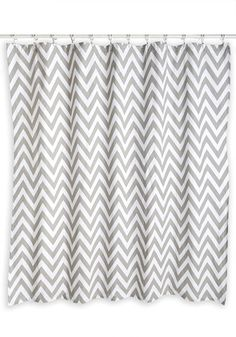 Showered in Sweetness Shower Curtain. This chevron shower curtain is a glorious sight to see after a nights worth of beauty sleep! #gold #prom #modcloth