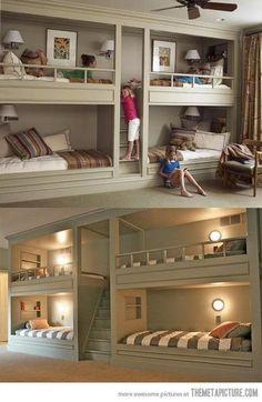 Very interesting idea for extra sleeping room!