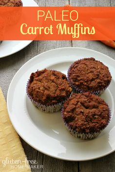 These healthy carrot muffins are easy to make, moist, and flavorful. We love them for an easy breakfast or snack. They're gluten and dairy free and paleo!