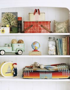 Camp and Cottage styled Shelves