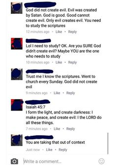 """""""You're taking it out of context"""" translates to: I don't know the bible as well as I say I do."""
