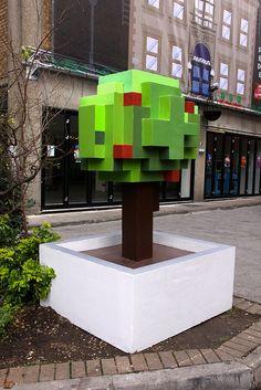 it8Bit — Pixel Street Art promoting Wreck-It Ralph Image...