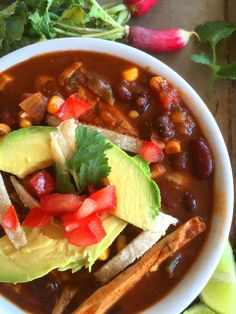 Vegan Spicy Chicken Enchilada Soup With Homemade Red Enchilada Sauce For The Slow Cooker Or