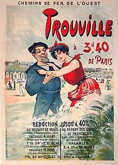 This poster advertises a reduction in transportation fares, artist, Maurice Millière c.1890.