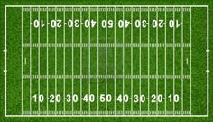 American Football Field, Isolated On White Background,  Illustration
