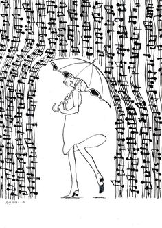 """""""Draw the music"""" Music Drawings, Music Artwork, Cute Drawings, Drawing Music Notes, Music Pics, Music Pictures, Clarinet Pictures, Image Tumblr, Rain Music"""