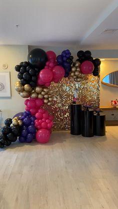 7th Birthday Party Ideas, Birthday Balloon Decorations, Girl Baby Shower Decorations, Graduation Party Decor, Birthday Party Decorations, Balloon Arch Diy, Balloon Backdrop, Balloon Garland, 16 Balloons