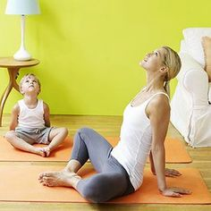 Yoga for Better Behavior: Bedtime Soother: Flying Heart I like the idea of doing stretches before bed to relax their bodies