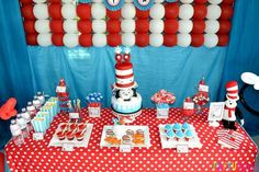 Cat in the Hat Party Ideas #catinthehat #party #partyideas #drsuess