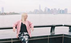 In front of the Manhattan Skyline