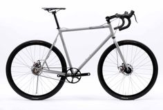 Mosaic belt drive disc brake cross bike.