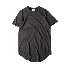 9065945779b Men s Solid Color Curved Hem Long Line T-shirt   Price   34.99  amp