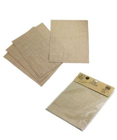 """8""""x11""""Burlap Creative Essentials Sheets w/ Laminated Backing Printable Pack Of 6"""