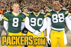 Photobomb at the Christmas Day game.  Matt Flynn is wearing a Rudolph nose.