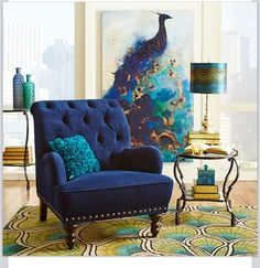 Want this peacock rug!!!!!! Pier 1