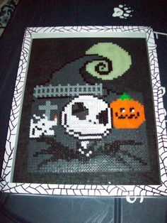 Nightmare Before Christmas Shadow Box perler beads by FoxofShadows on deviantart