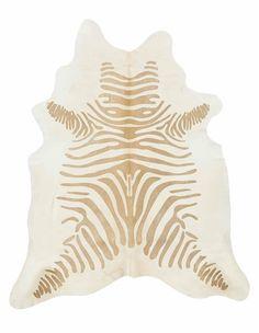 Stenciled Zebra Rug, Caramel | Lulu and Georgia $812.50