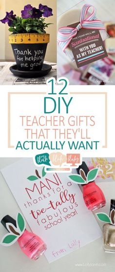 12 DIY Teacher Gifts That They'll Actually Want| Gifts, Gifts for Teachers, Handmade Gifts for Teachers, Gift Ideas for Teacher, DIY Gifts, Gifts for Him, Gifts for Her, Handmade Gift Ideas, End of the Year Gifts for Teachers, Popular Pin