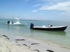 Pair of Sabalo 21' boats off the beach (www.sabaloboats.com) Bay Boats, Fishing Charters, Kayaks, Fishing Boats, Boating, Audio, Dreams, Nice, Building