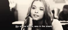 Shy on the streets, sexy in the sheets. #Sexy #Women #PrettyLittleLiars