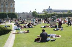 Chilling out at the Tuileries Gardens.