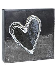 Blackk Artbloxx 02 Silver Wall Art, Small Canvas, Art Uk, Heart Ring, Contemporary Art, Jewelry, Jewels, Contemporary Artwork, Schmuck