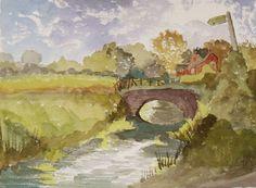 Marshside Kent an Original Watercolour by JulianLovegroveArt, £60.00