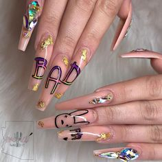 Beautiful, provocative and long nails are the dream of many women. Aycrlic Nails, Glam Nails, Classy Nails, Perfect Nails, Gorgeous Nails, Pretty Nails, Best Acrylic Nails, Acrylic Nail Designs, Dope Nail Designs
