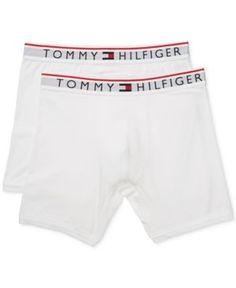Tommy Hilfiger Men's 2-Pk. Modern Essentials Boxer Briefs - White 2XL