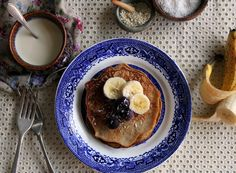 No sugar buckwheat pancakes w/ vanilla